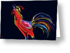 The Red Rooster Greeting Card