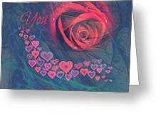 The Red Rose Of Love Greeting Card
