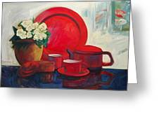 The Red Still Life Greeting Card