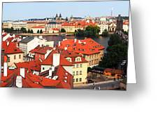 The Red Tile Roofs Of Prague Greeting Card