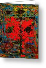 The Red Tree -or- Paint Greeting Card