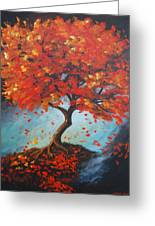 The Red Tree Greeting Card