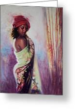The Red Turban Greeting Card