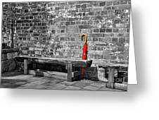 The Red Umbrella 2 Greeting Card