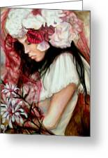 The Red Veil Greeting Card