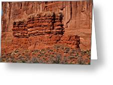 The Red Wall Greeting Card