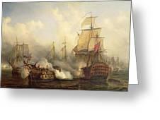 The Redoutable At Trafalgar Greeting Card