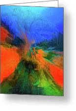 The Reef In Watercolor Abstract Greeting Card
