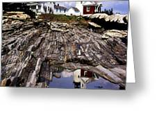 The Reflection At Pemaquid Greeting Card