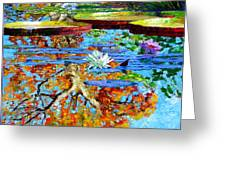The Reflections Of Fall Greeting Card