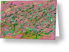 The Regatta In Pink Seas Greeting Card