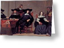The Regents Of The Old Men And Women Hospital In Amsterdam Greeting Card