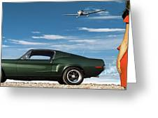 The Rendezvous - 1968 Mustang Fastback Greeting Card