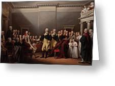 The Resignation Of General George Washington Greeting Card