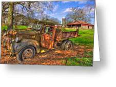 The Resting Place Boswell Farm 1947 Dodge Dump Truck Greeting Card