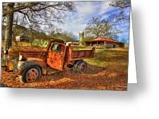 The Resting Place 2 Farm Life 1947 Dodge Dump Truck Art Greeting Card