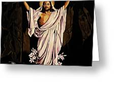 The Resurrection Greeting Card by Milagros Palmieri