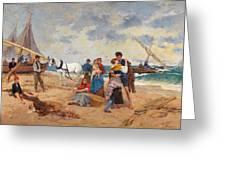The Return Of Fishermen Greeting Card
