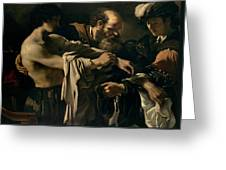 The Return Of The Prodigal Son Greeting Card by Giovanni Francesco Barbieri