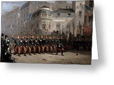 The Return Of The Troops To Paris From The Crimea Greeting Card by Emmanuel Masse