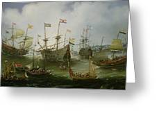 The Return To Amsterdam Of The Second Expedition To The East Indies Greeting Card
