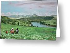 The Rhine Near Sakingen Greeting Card