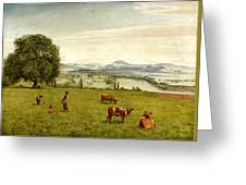 The Rhine Valley Near Sackingen Greeting Card