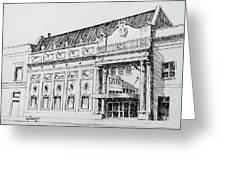 The Rialto Theater Deer Lodge Montana Greeting Card
