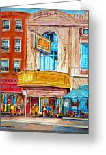The Rialto Theatre Montreal Greeting Card