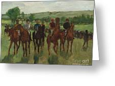 The Riders, 1885 Greeting Card
