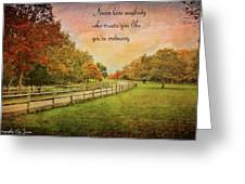 The Right Words To Live By Greeting Card