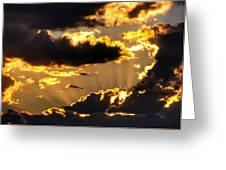 The Rising Of The Setting Sun Greeting Card