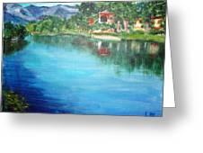 the river Adda Greeting Card