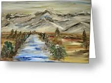 The River Flows Greeting Card