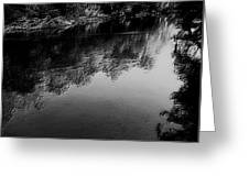 The River In Black And White Greeting Card