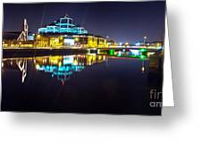 The River Liffey Night Romance 2 Greeting Card