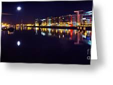 The River Liffey Night Romance V2 Greeting Card