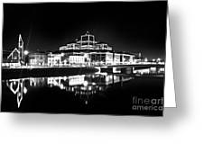 The River Liffey Reflections 2 Bw Greeting Card