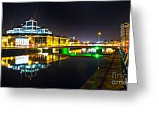 The River Liffey Reflections 3 Greeting Card