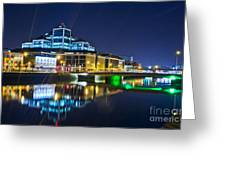 The River Liffey Reflections 4 Greeting Card