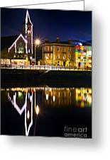 The River Liffey Reflections Greeting Card