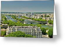 The River Of Paris Greeting Card
