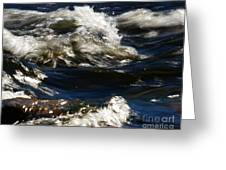The River Rush Greeting Card