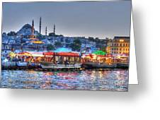 The Riverboats Of Istanbul Greeting Card