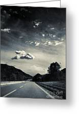 The Road And The Clouds Greeting Card