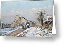 The Road From Gisors To Pontoise Greeting Card by Camille Pissarro