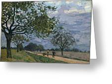 The Road From Versailles To Louveciennes Greeting Card