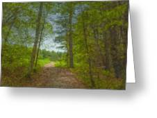The Road Goes Ever On And On Greeting Card