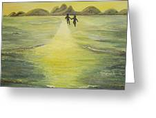 The Road In The Ocean Of Light Greeting Card