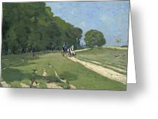 The Road Near The Park Of Courances Greeting Card